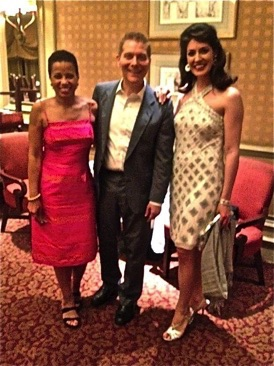 Jennifer with Michael Feinstein and Harolyn Blackwell at Feinstein's